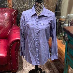 NWOT Wrangler purple western top